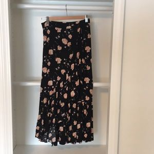 Black floral skirt from Nordstrom Rack.